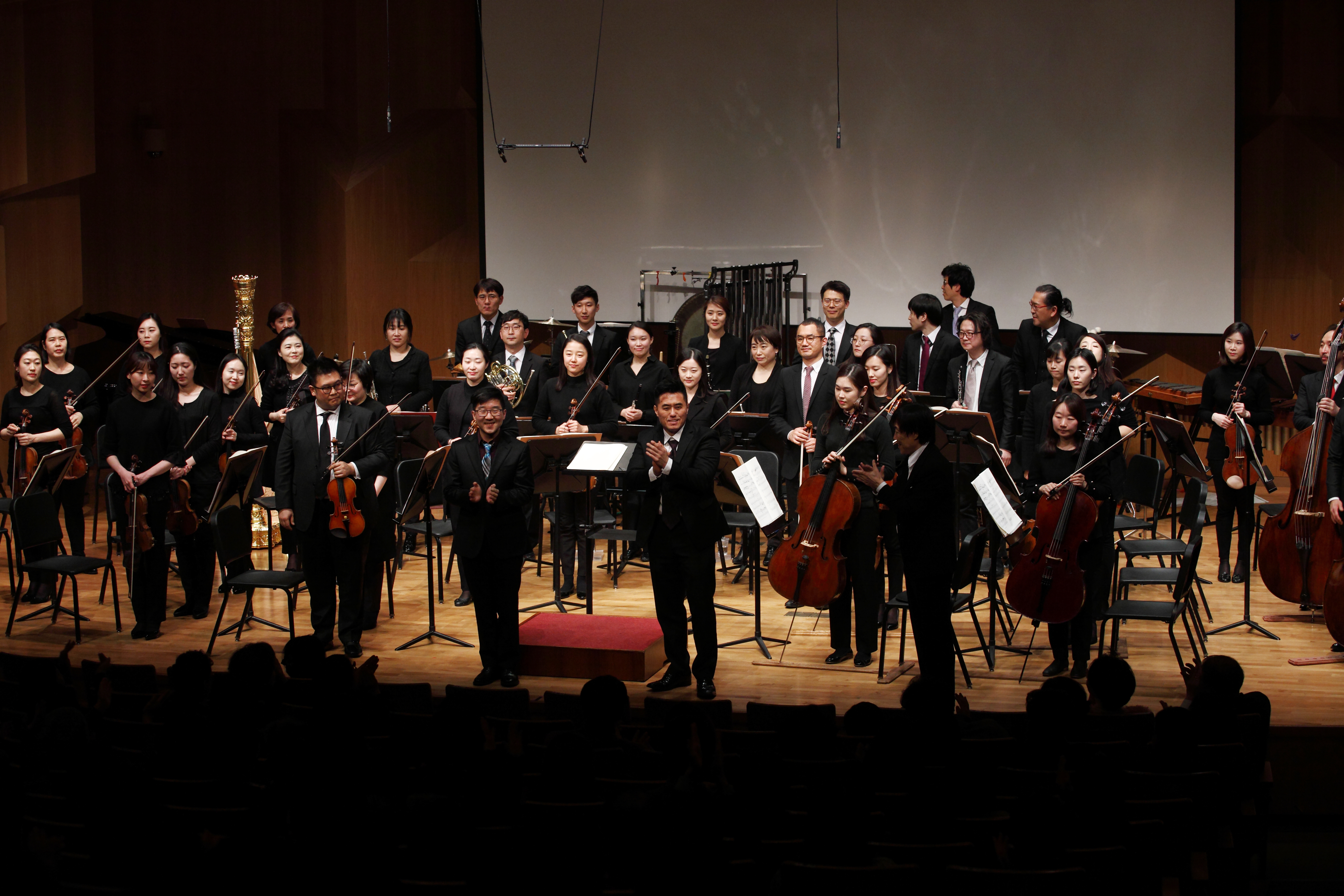 Two Composer-in-residence and Korean Symphony Orchestra